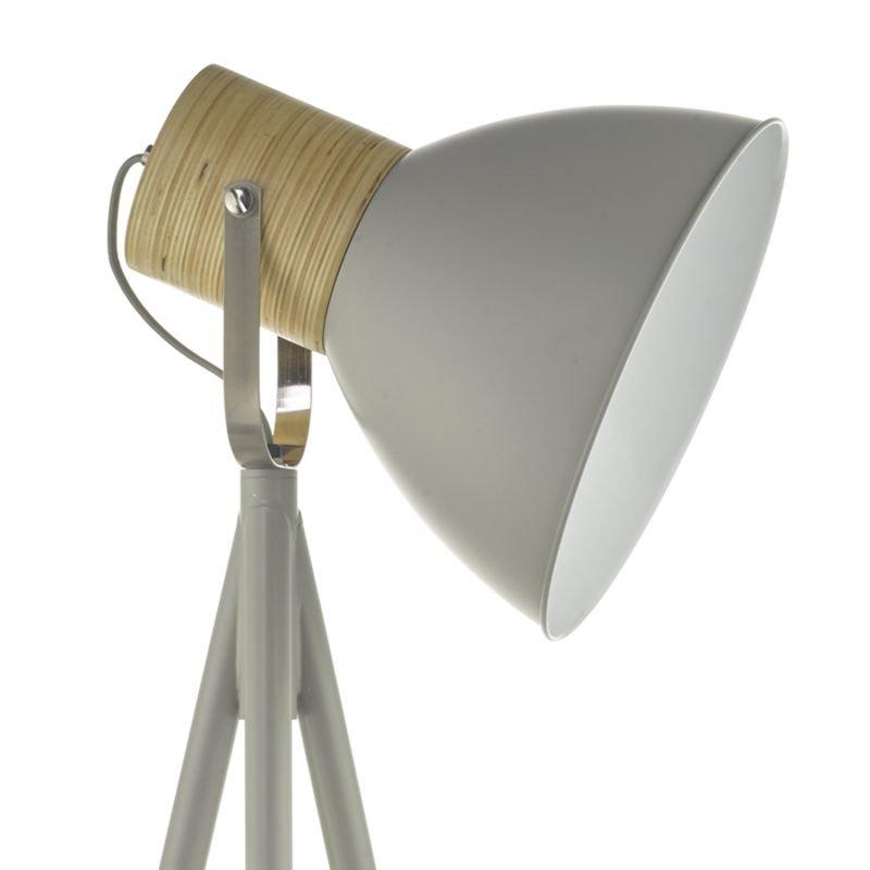Dar-ADN4939 - Adna - Grey Metal with Natural Wood Tripod Floor Lamp