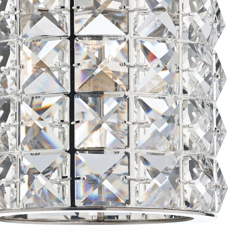 Dar-AGN0750 - Agneta - Polished Chrome with Crystal Single Wall Lamp