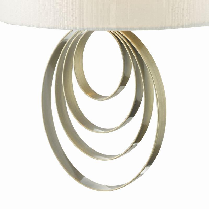 Dar-ALS0775 - Alsie - Ivory Silk Shade with Antique Brass Wall Lamp