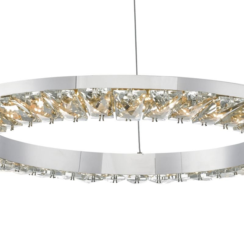 Dar-ALT0150 - Altamura - LED Crystal with Stainless Steel Hanging Pendant