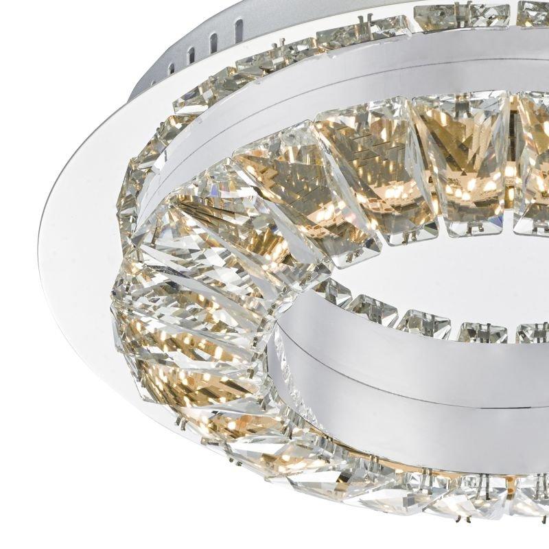 Dar-ALT5250 - Altamura - LED Crystal with Stainless Steel Ceiling Lamp