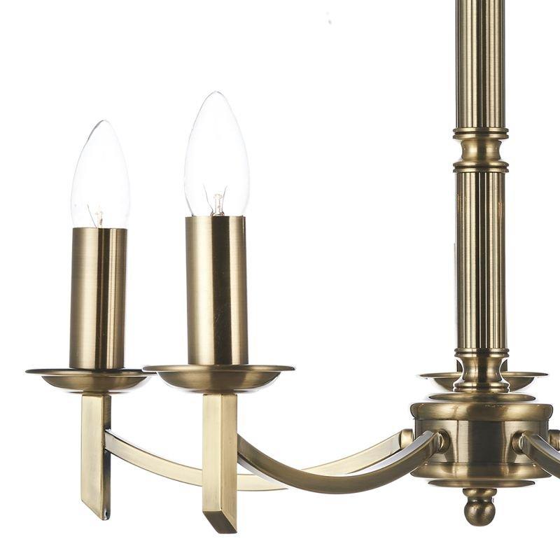 Dar-AMB0575 - Ambassador - Antique Brass 5 Light Centre Fitting