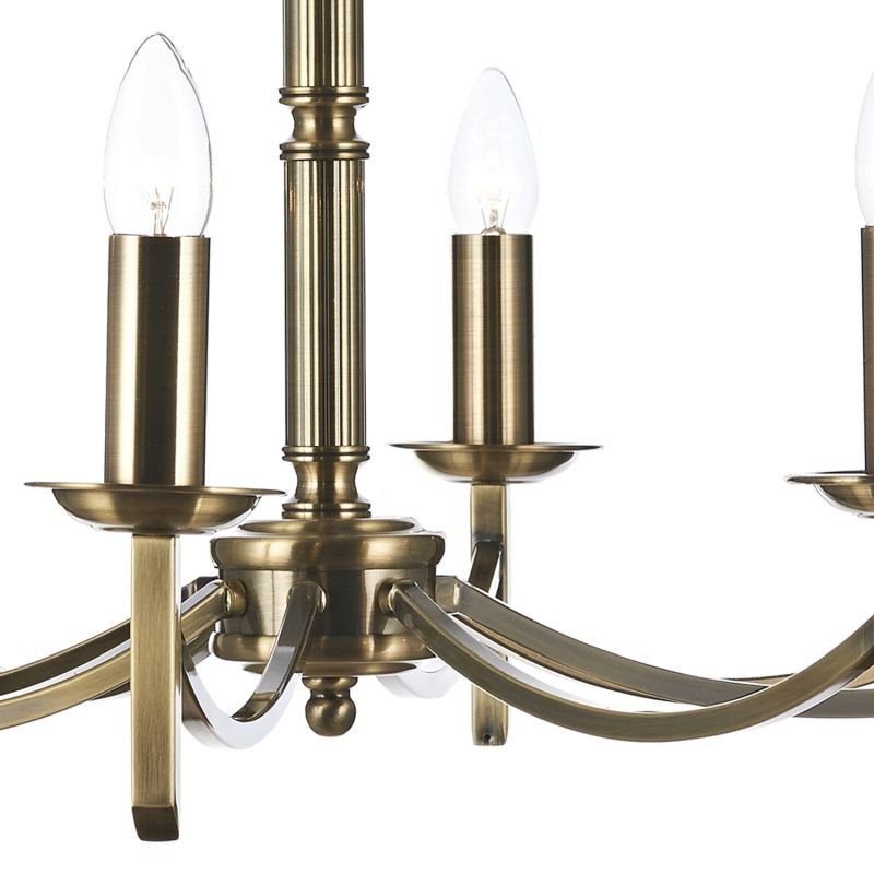 Dar-AMB0875 - Ambassador - Antique Brass 8 Light Centre Fitting