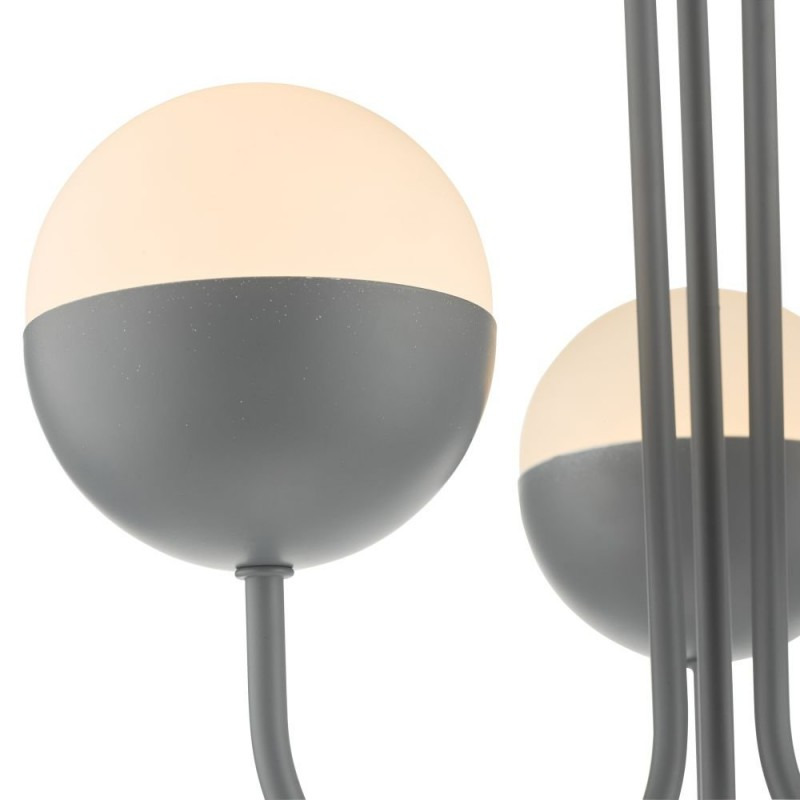 Dar-AND0339 - Andre - Opal Glass & Matt Grey 3 Light Semi Flush