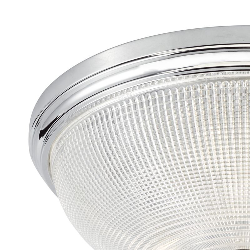 Dar-ARB5250 - Arbor - Prismatic Glass with Chrome 3 Light Ceiling Lamp