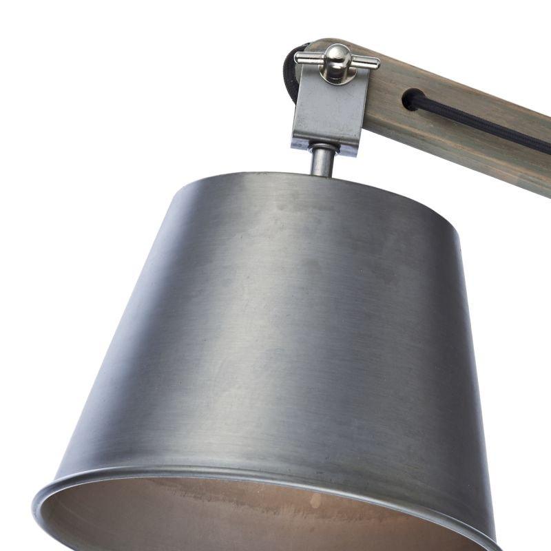 Dar-ARK0748 - Arken - Grey Metal with Wood Wall Lamp
