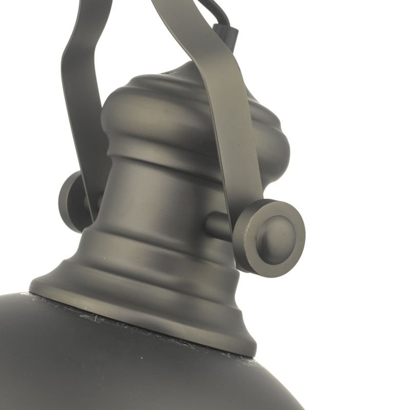 Dar-ARO0167 - Arona - Antique Pewter with Glass Diffuser Single Pendant