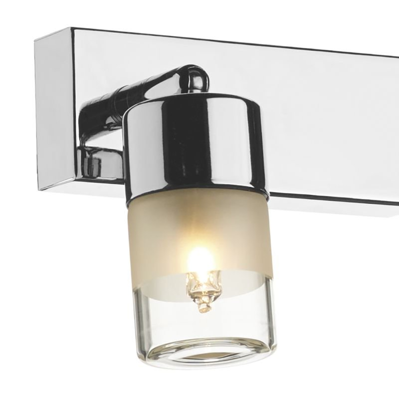 Dar-ART7750 - Artemis - Bathroom Clear and Frosted Glass Double Spotlights