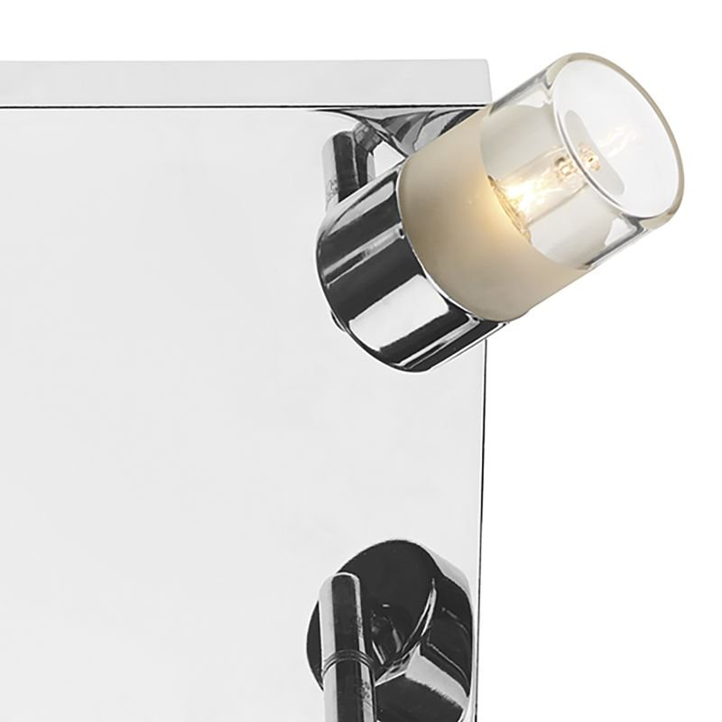 Dar-ART8550 - Artemis - Bathroom Clear and Frosted Glass 4 Light Spotlights