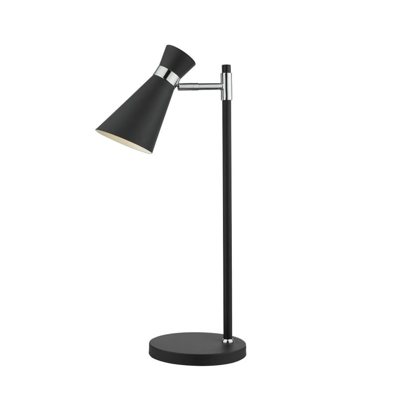 Dar-ASH4122 - Ash - Adjustable Black Metal with Chrome Table Lamp