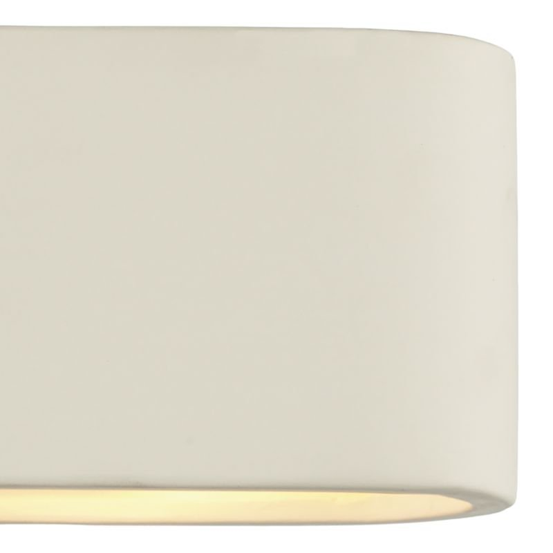 Dar-AXT072 - Axton - Washer White Ceramic Wall Lights