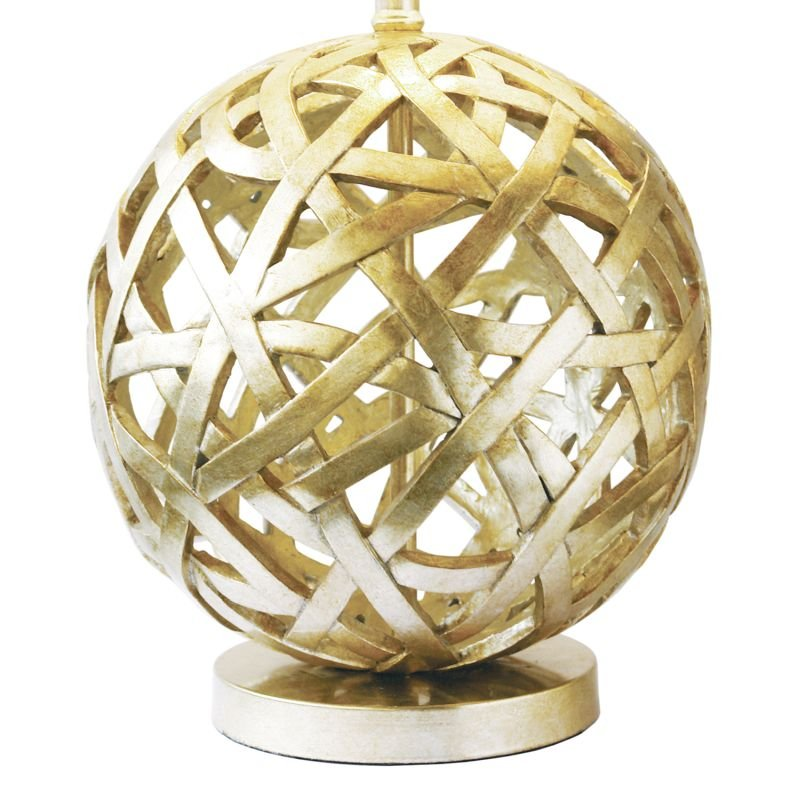 Dar-BAL4263 - Balthazar - Gold Globe with Gold Shade Table Lamp