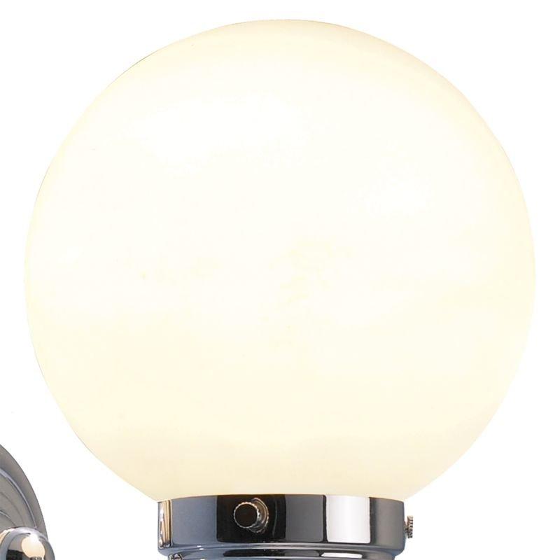 Dar-BAR0750 - Barclay - Bathroom Opal Glass Globe and Chrome Wall Lamp