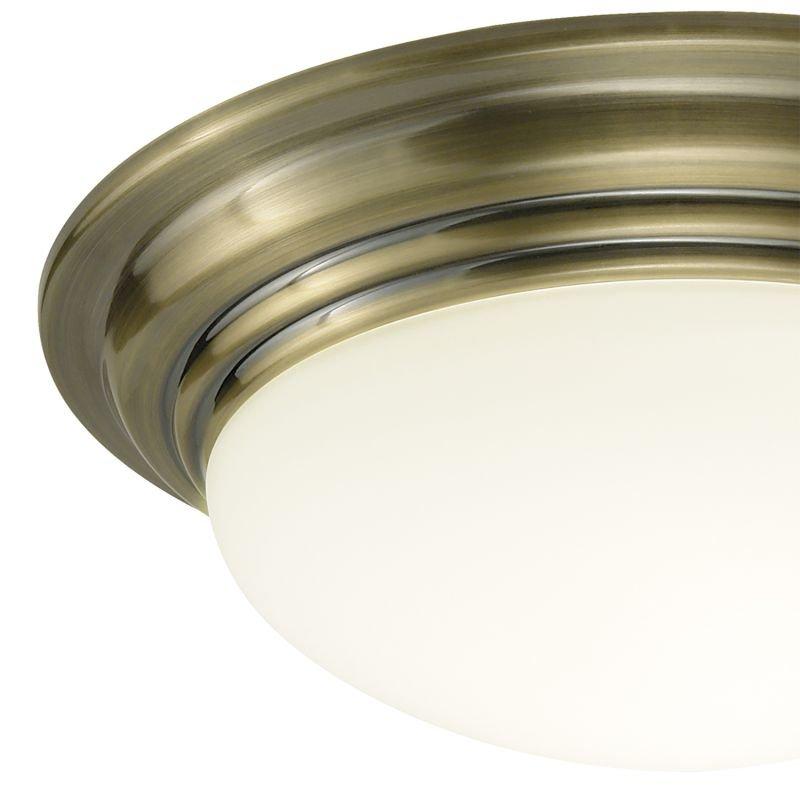 Dar-BAR5275 - Barclay - Small Bathroom Antique Brass Ceiling Lamp