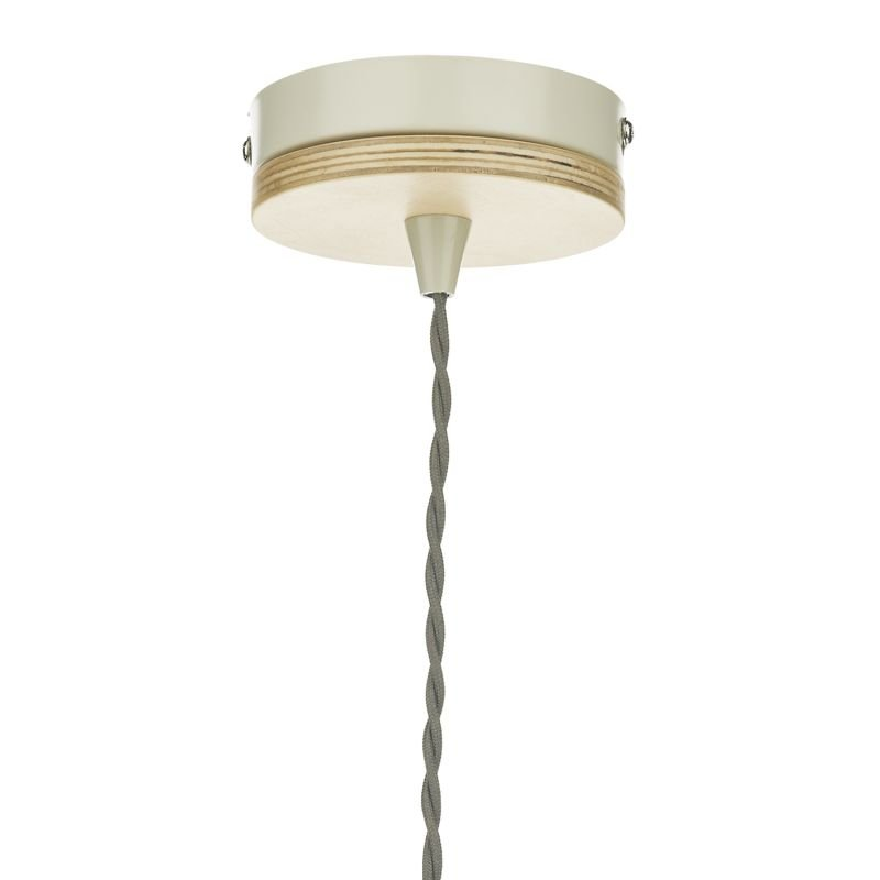 Dar-BLY0143 - Blyton - Retro Cream with Wood Single Hanging Pendant