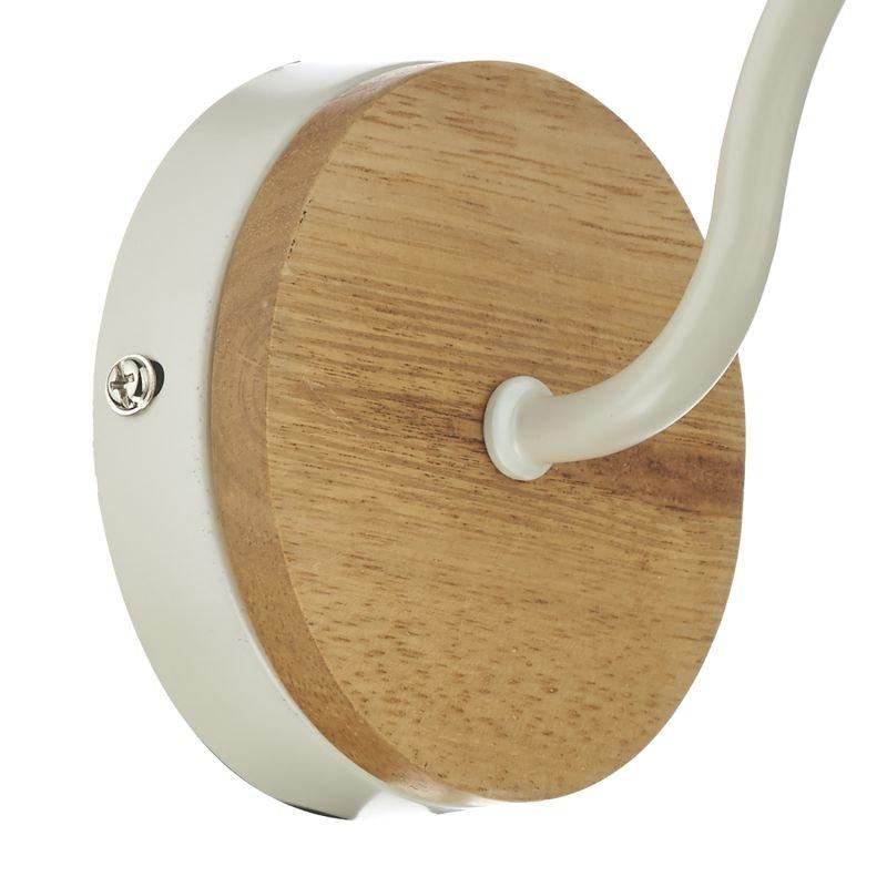 Dar-BLY0743 - Blyton - Retro Cream with Wood Single Wall Lamp