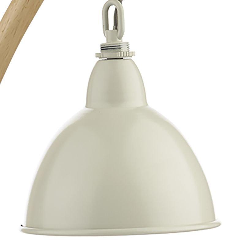 Dar-BLY4243 - Blyton - Retro Cream with Wood Table Lamp