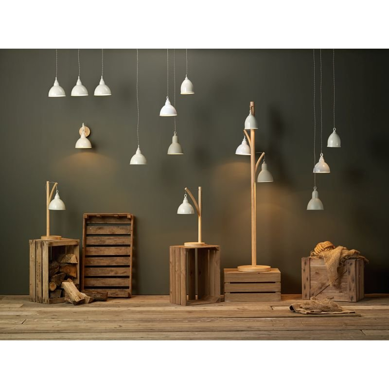 Dar-BLY5343 - Blyton - Retro Cream with Wood 3 Light over Island Fitting