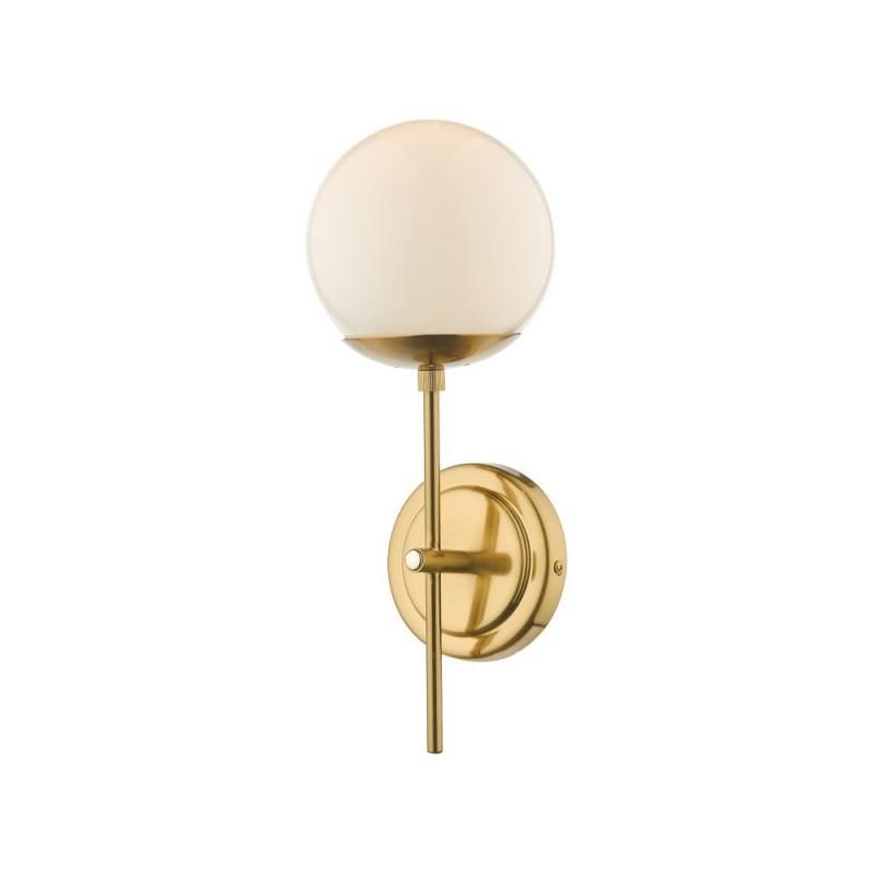 Dar-BOM0735 - Bombazine - Natural Brass & Opal Glass Wall Lamp