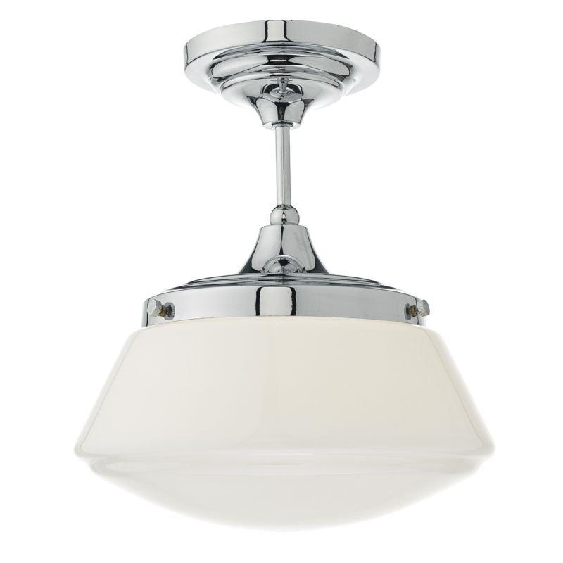 Dar-CAD0150 - Caden - Bathroom Polish Chrome and Opal Glass Ceiling Lamp