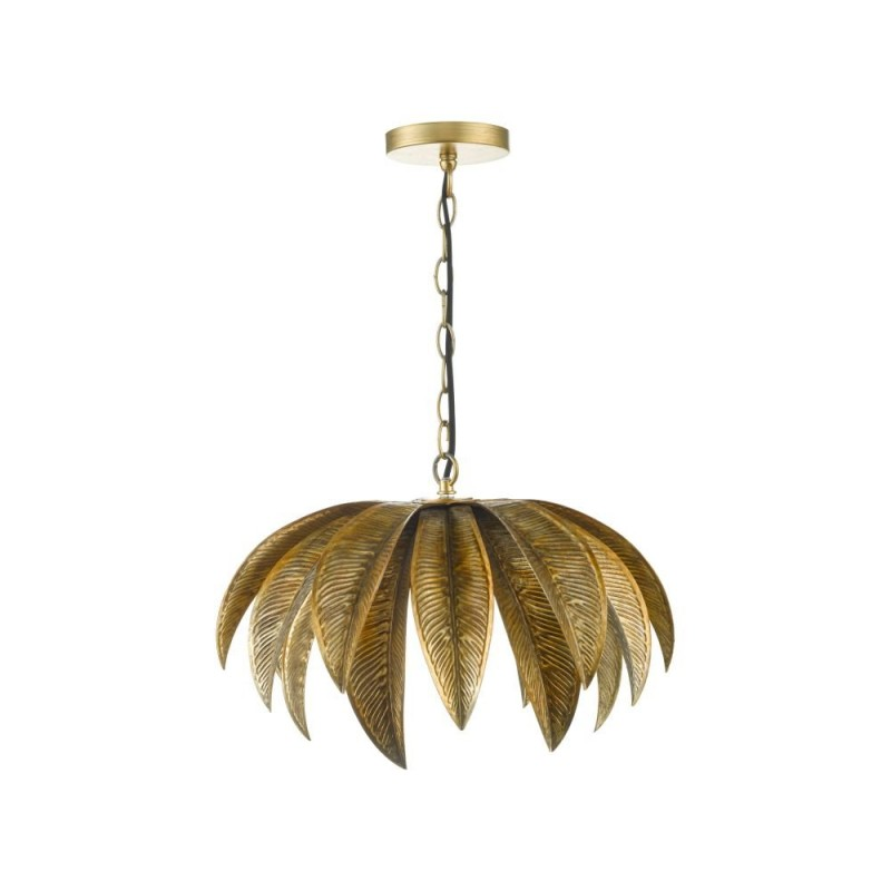 Dar-CAR0135 - Cara - Antique Gold Palm Tree Single Pendant