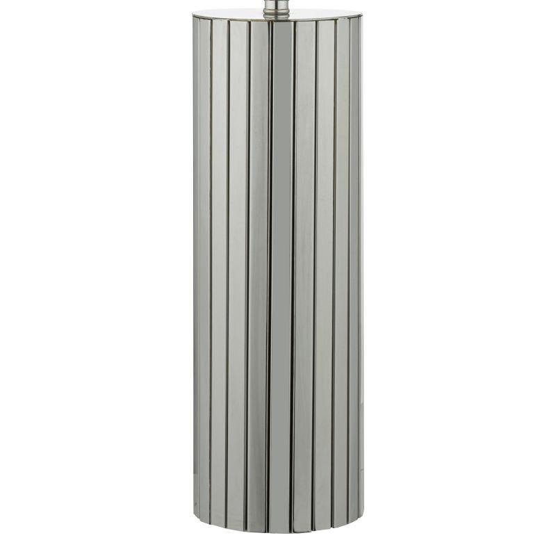 Dar-CAS4250 - Cassandra - Grey Shade with Polished Chrome Table Lamp
