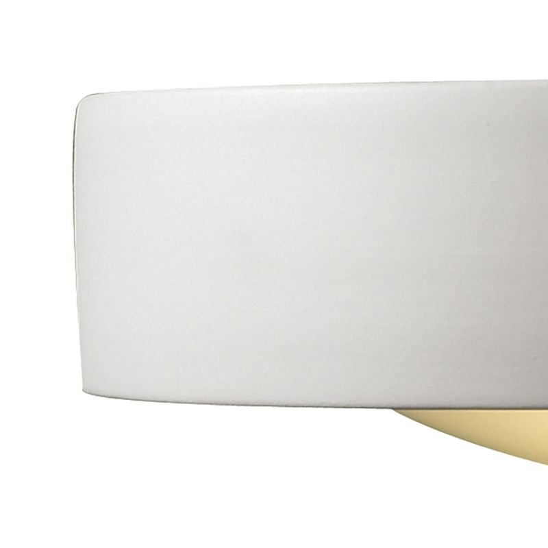 Dar-CAT072 - Catalan - Washer White Ceramic Up&Down Wall Lights