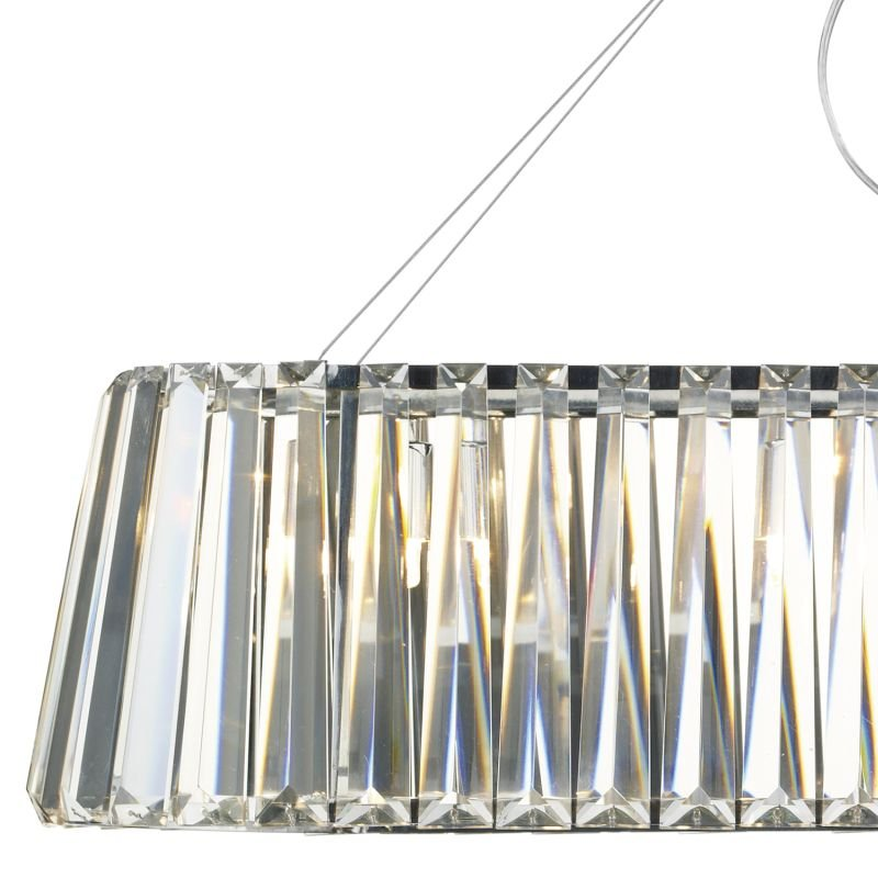 Dar-CEC0350 - Cecilia - Crystal with Chrome 3 Light over Island Fitting
