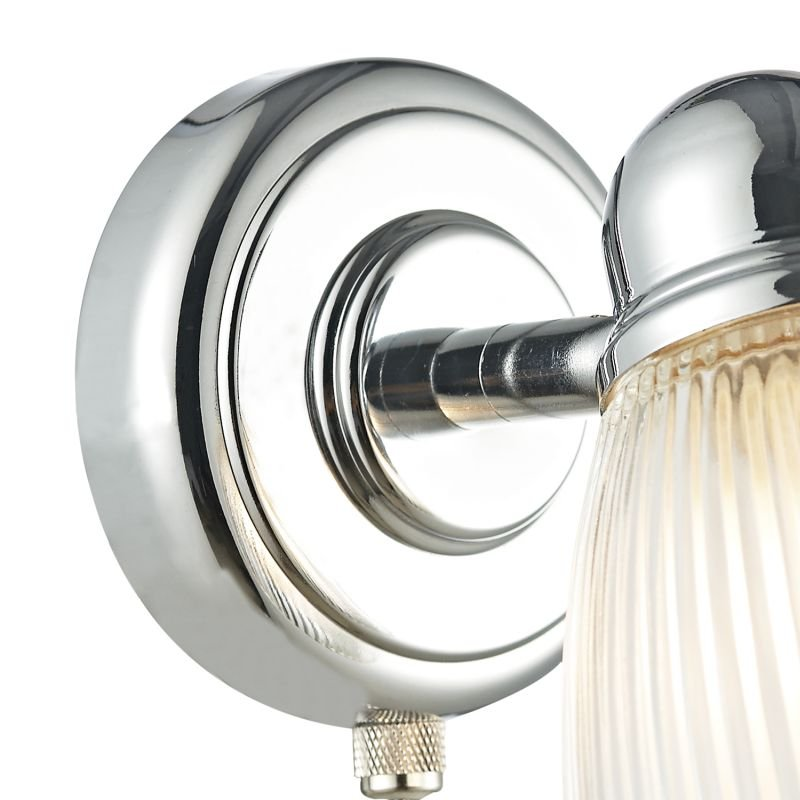 Dar-CED0738 - Cedric - Bathroom Ribbed Glass Single Spotlights