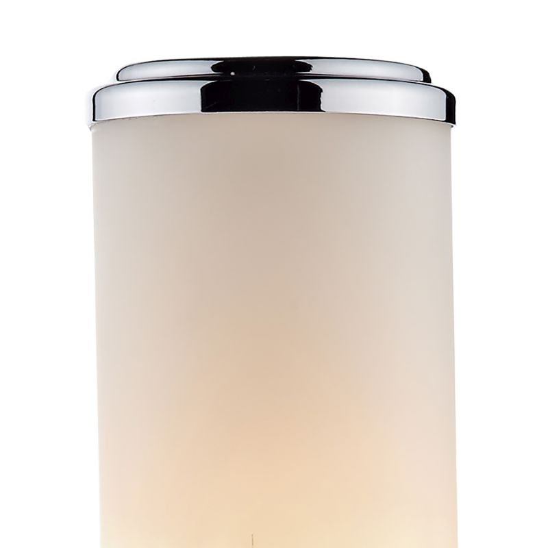 Dar-CEN0750 - Century - Bathroom Frosted Glass and Chrome Single Wall Lamp