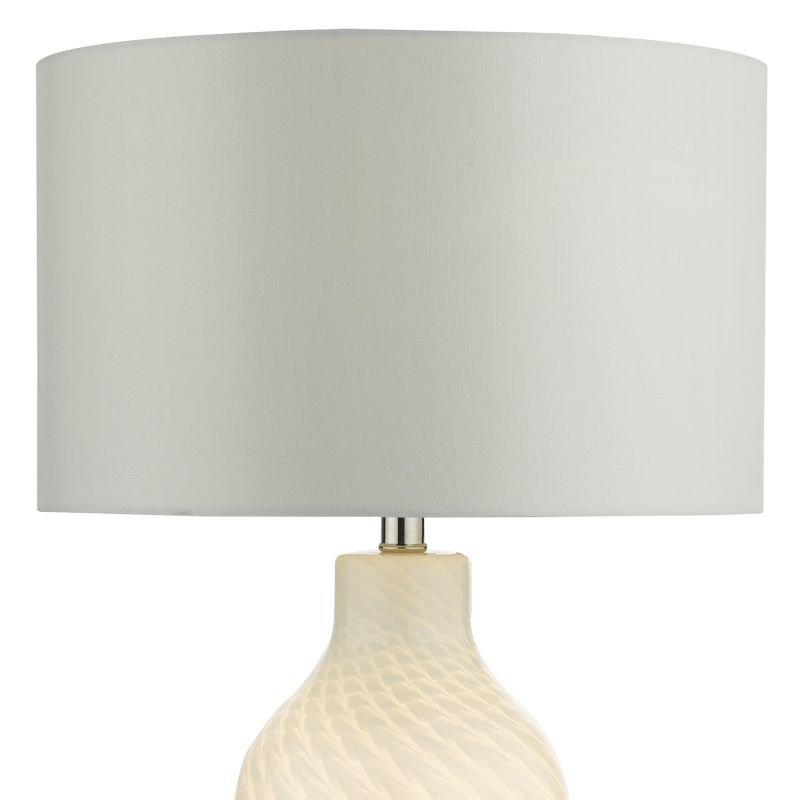 Dar-CIB422 - Cibana - White Dual Source Table Lamp