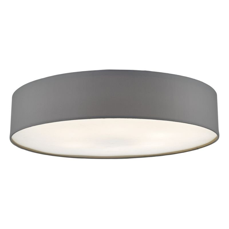 Dar-CIE4839 - Cierro - Grey Fabric with Diffuser 6 Light Ceiling Lamp - ∅ 80