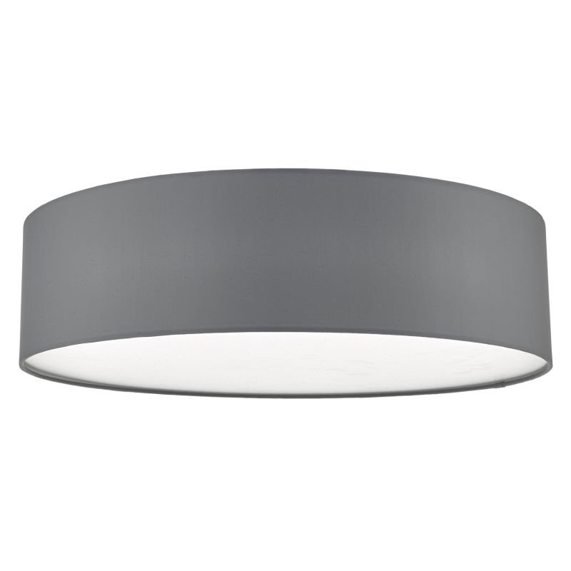 Dar-CIE5039 - Cierro - Grey Fabric with Diffuser 4 Light Ceiling Lamp - ∅ 60