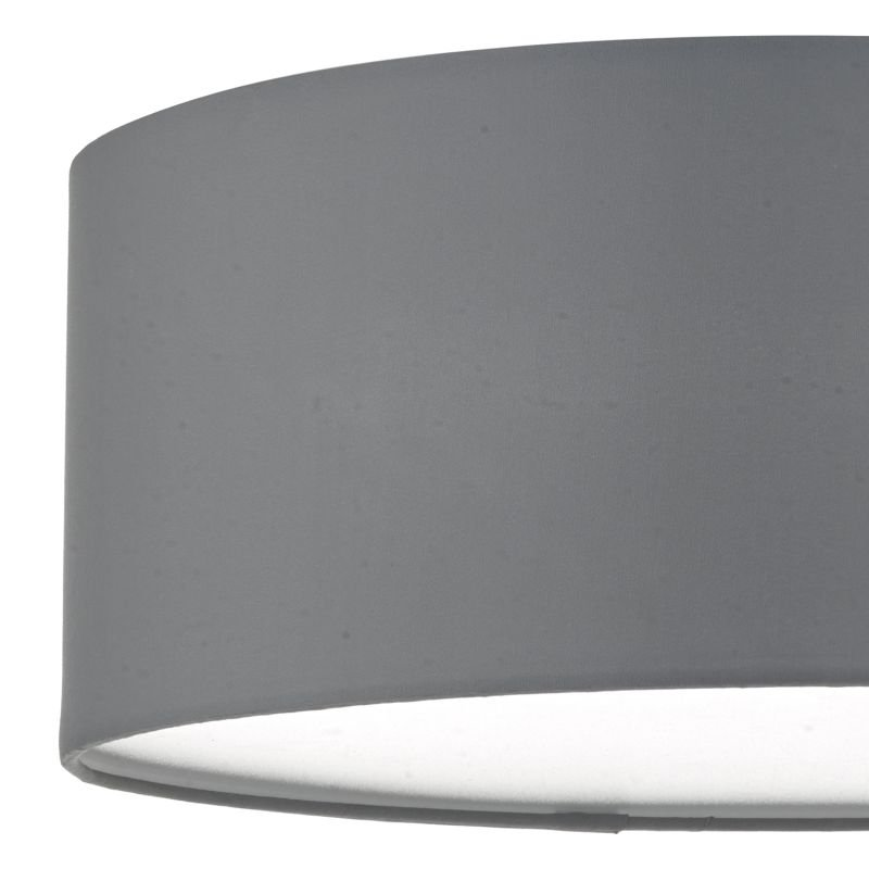 Dar-CIE5239 - Cierro - Grey Fabric with Diffuser 3 Light Ceiling Lamp - ∅ 40