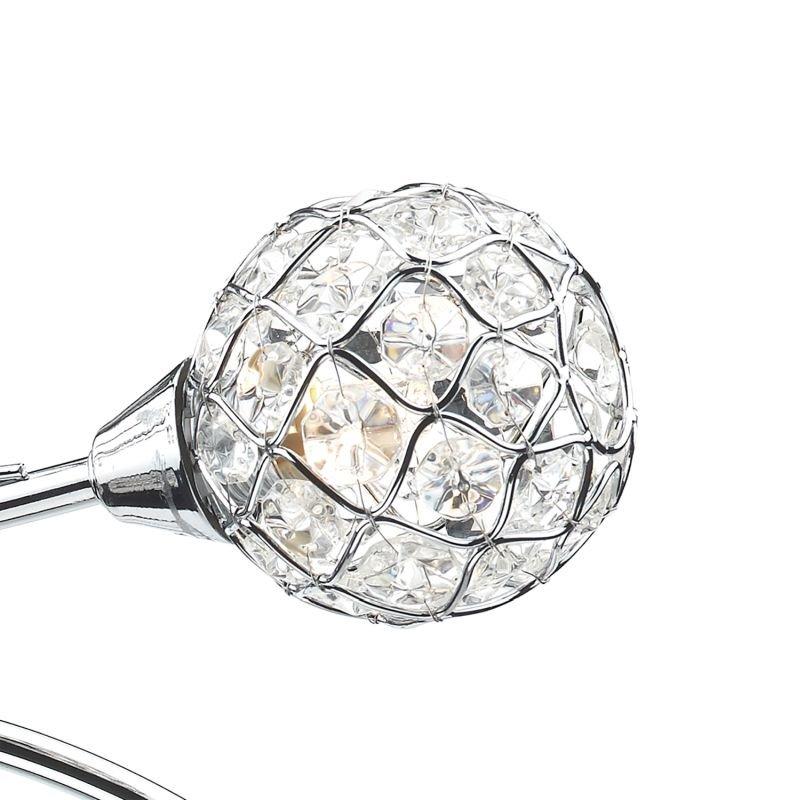 Dar-CIR0450 - Circa - Decorative Glass Disc with Chrome 4 Light Centre Fitting