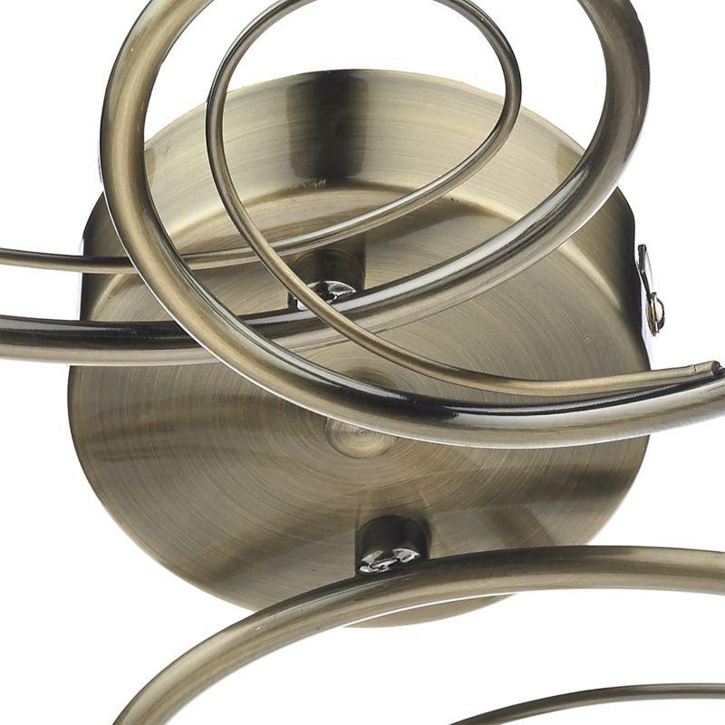 Dar-CIR0475 - Circa - Decorative Glass Disc with Brass 4 Light Centre Fitting