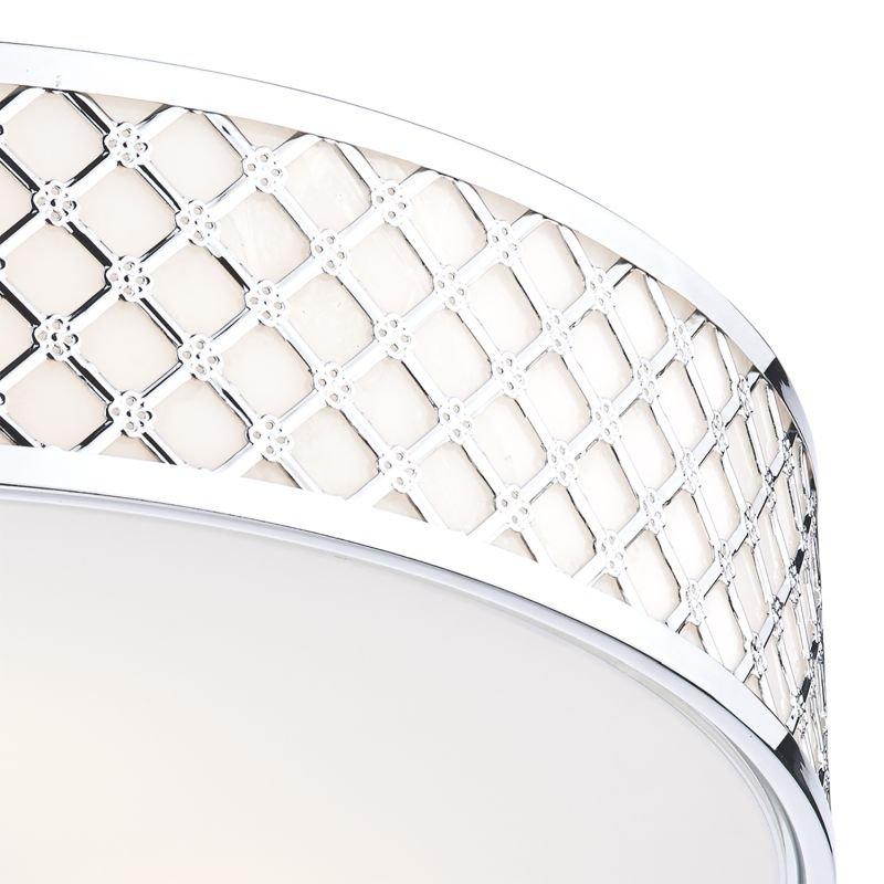 Dar-CIV5050 - Civic - Chrome with Opaque Glass 5 Light Ceiling Lamp