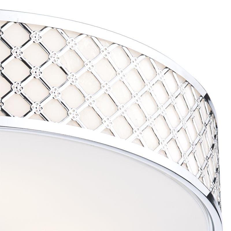 Dar-CIV5250 - Civic - Chrome with Opaque Glass 2 Light Ceiling Lamp