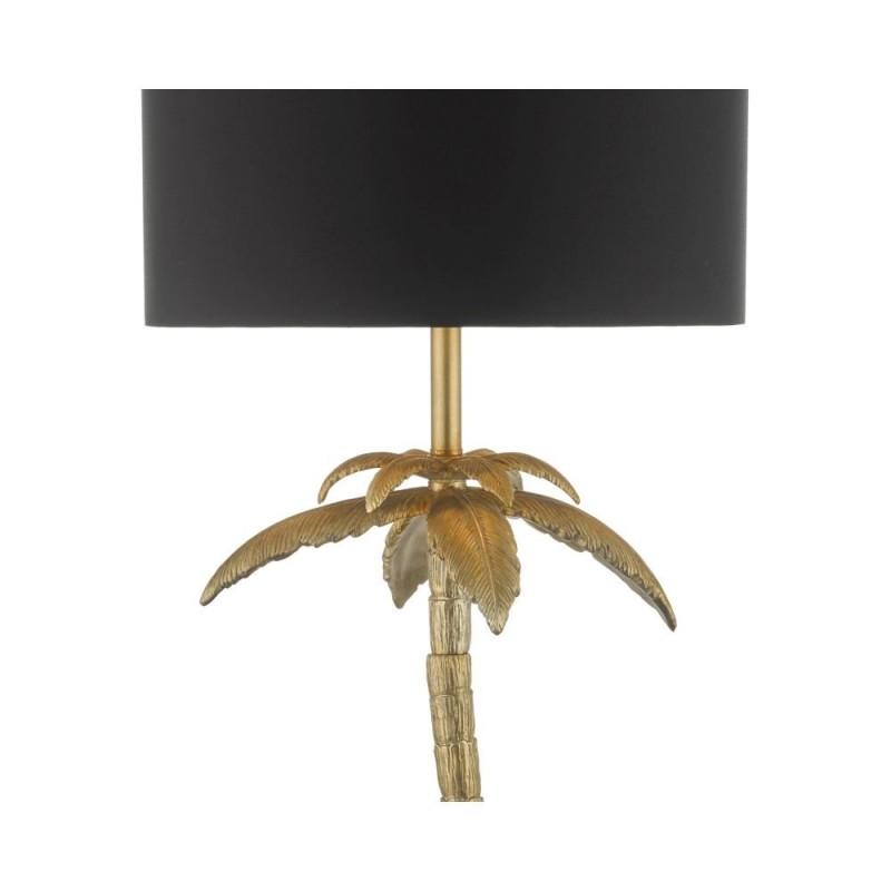 Dar-COC4935 - Coco - Black & Antique Gold Palm Tree Floor Lamp
