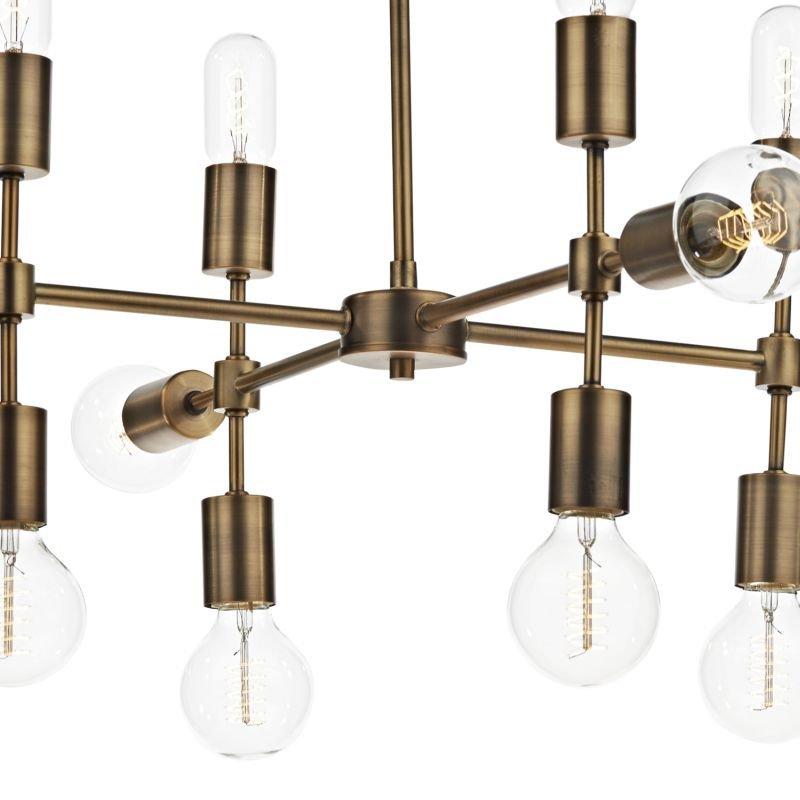 Dar-COD1235 - Code - Old Brushed Gold 12 Light Centre Fitting
