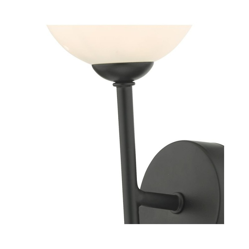 Dar-COH0722-02 - Cohen - White Glass & Black Wall Lamp