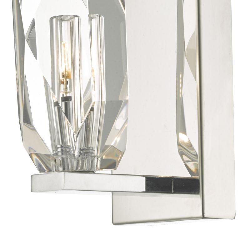 Dar-CRY0750 - Crystal - Chrome with Crystal Rock Wall Lamp