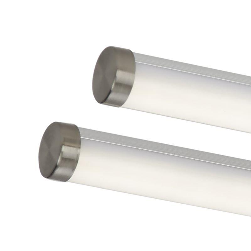 Dar-CUI4846 - Cuisine - Twin Large LED Satin Chrome Ceiling Flush