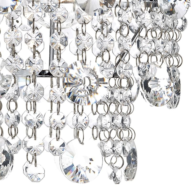 Dar-CYB6550 - Cybil - Crystal Shade with Chrome for Hanging Pendant