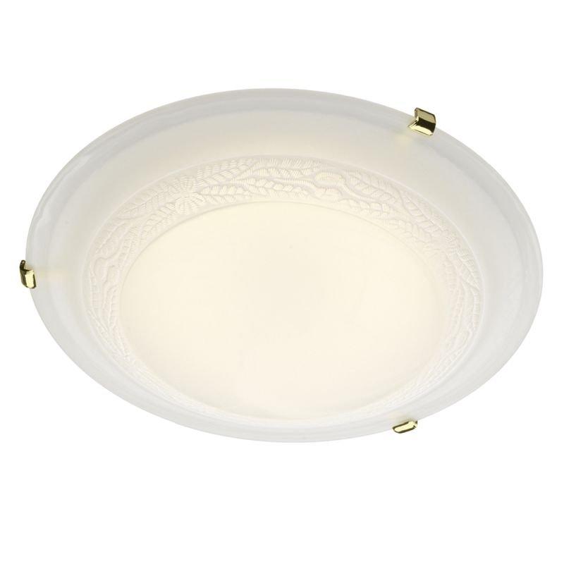 Dar-DAM522 - Damask - Decorative Alabaster Glass 1 Light Ceiling Lamp ∅30