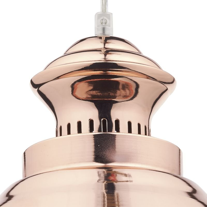 Dar-DAU0164 - Dauphine - Shiny Copper 1 Light Hanging Pendant