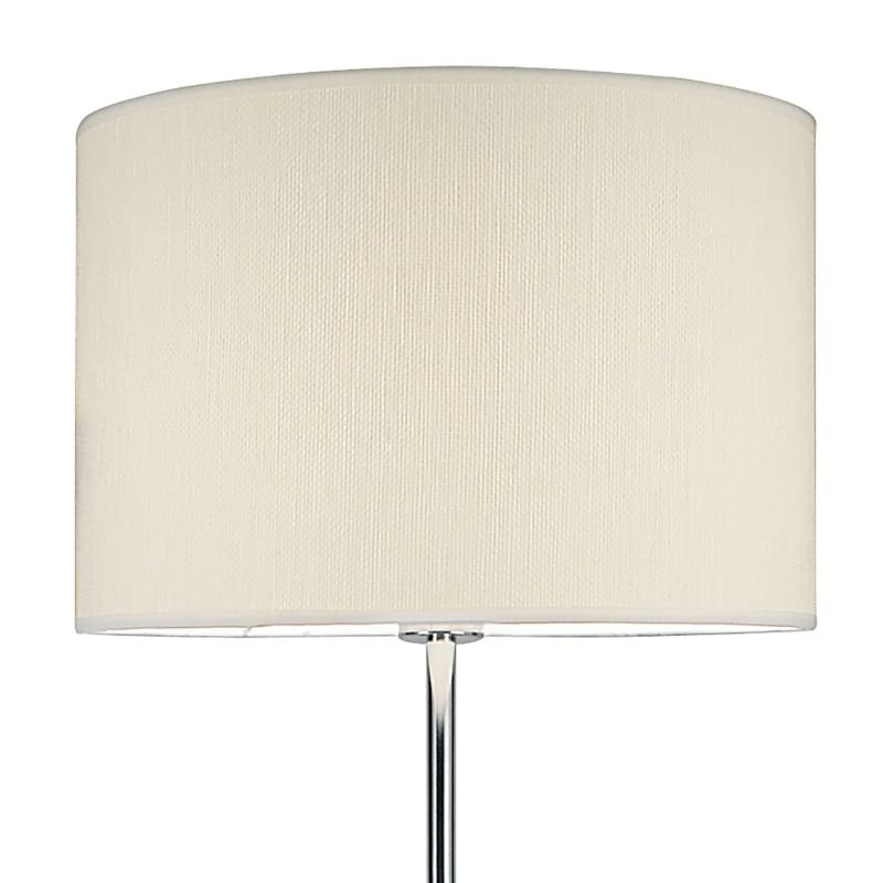 Dar-DEL4950 - Delta - Polished Chrome with Ivory Shade Floor Lamp
