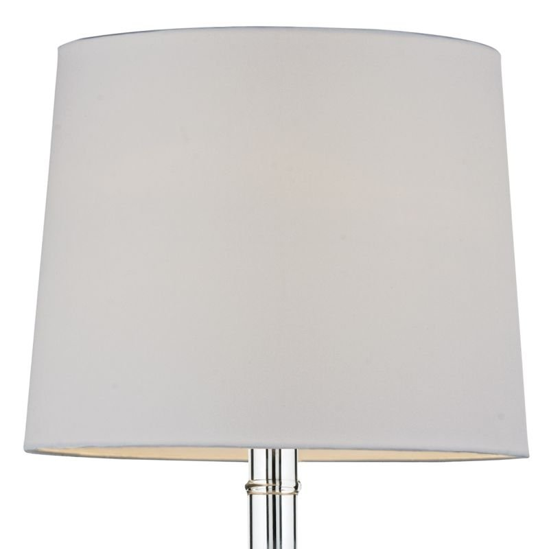 Dar-DIL4008 - Dillon - Transparent Glass with White Shade Table Lamp