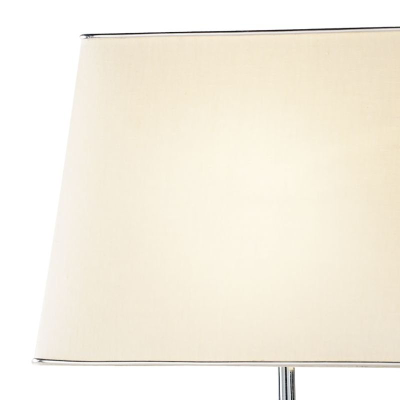 Dar-DOM4050 - Domain - Polished Chrome & Quartz Glass with Shade Table Lamp
