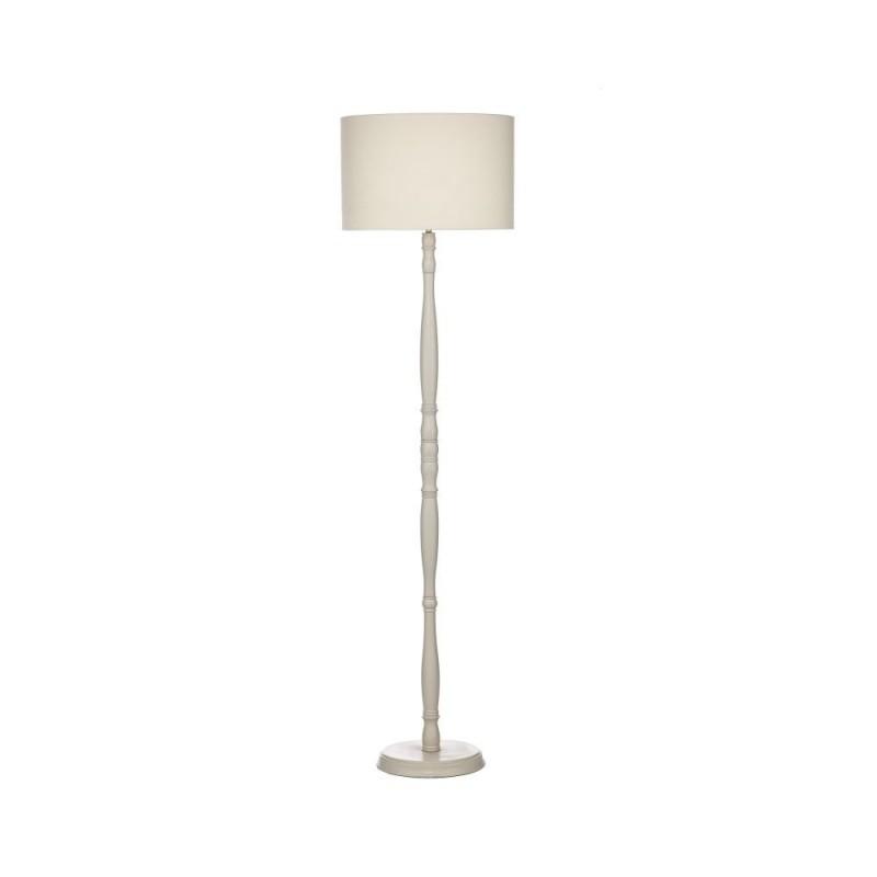 Wisebuys-DUN4933 - Dunlop - Traditional Cream Linen Floor Lamp